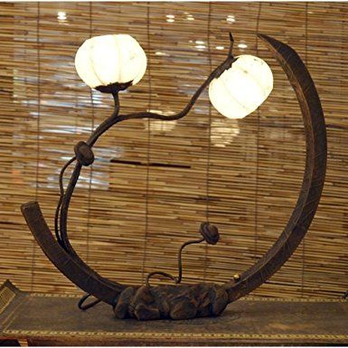 Lampada a sfera in carta di riso o gelso lavorata a mano arte deco con motivo