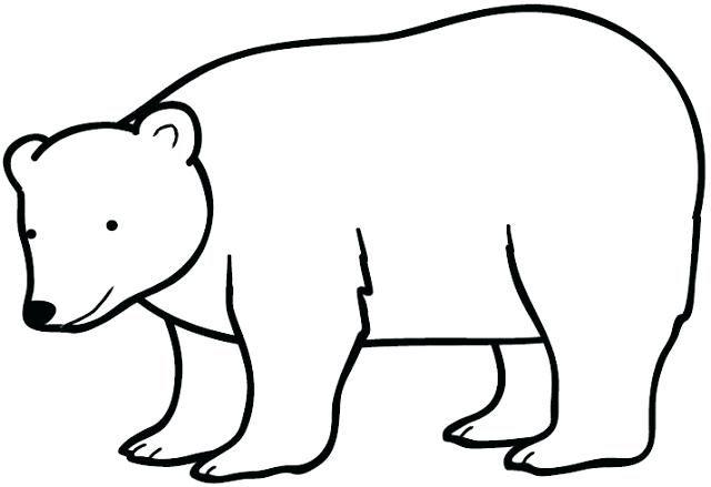 Oso Polar Para Colorear Oso Polar Dibujo Oso Polar Animalitos Para Colorear