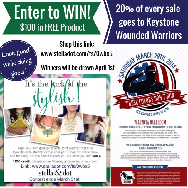 Look good while doing good. Shop today to support Keystone Wounded Warriors & enter to win FREE product.