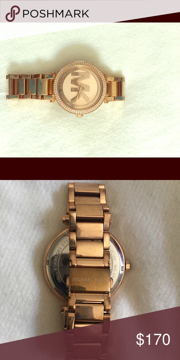 Lady's watch Golden watch for lady used Michael Kors Michael Kors Accessories Watches