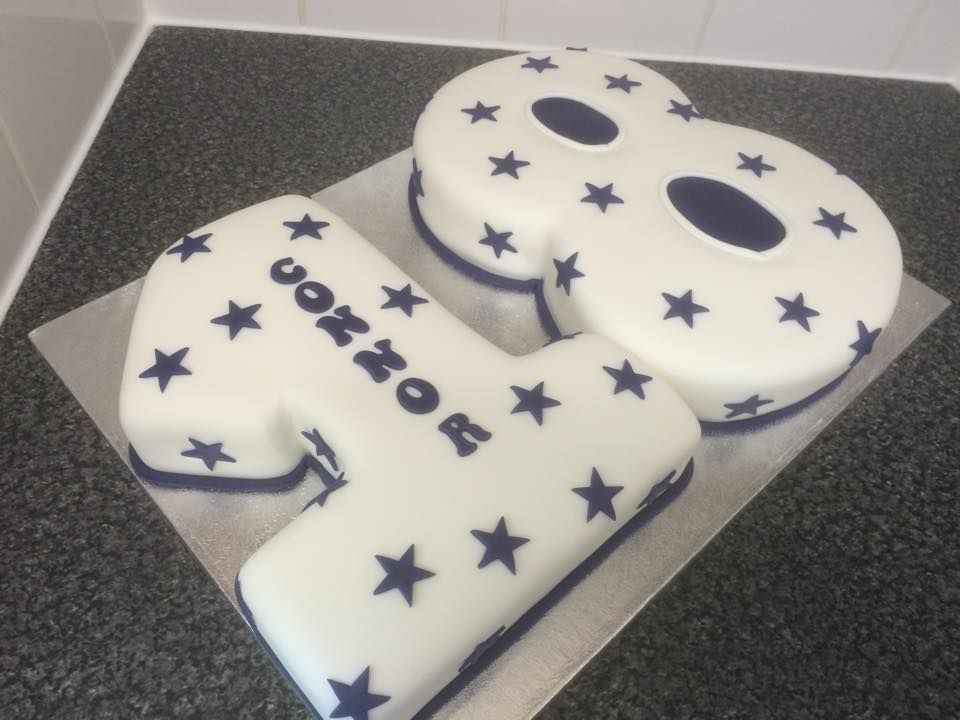 18th Birthday Number Cake Con Imagenes Cumpleanos Dulces Tortas