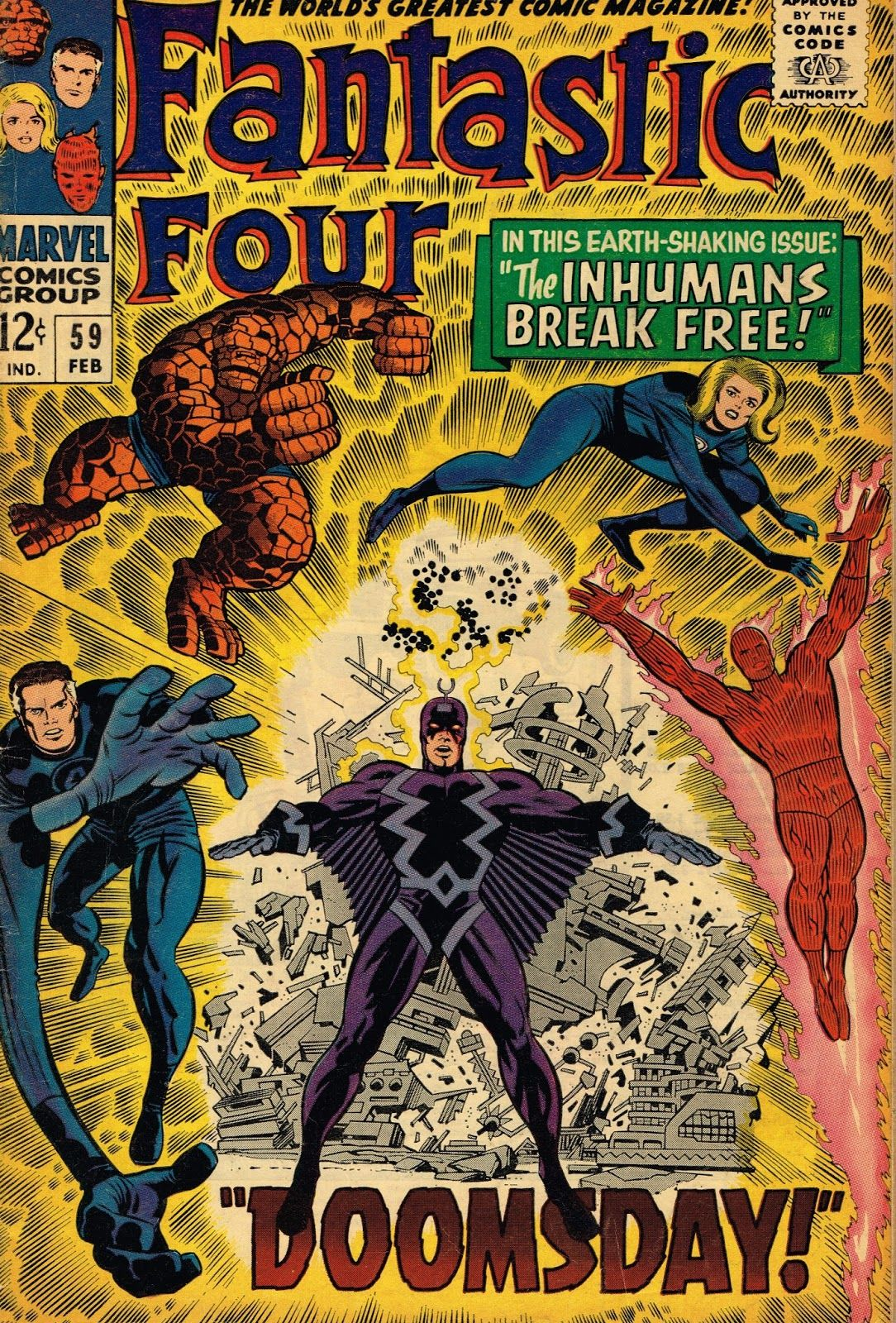 Cap N S Comics Black Bolt From Ff 59 By Jack Kirby