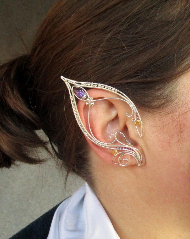 Elf Ear Cuffs Ophelia S Moon Pair Of Ear Cuffs Elf Ears Fairy Ear Cuffs Ear Cuff No Piercing Wire Elf Ears Ear Cuffs Earrings