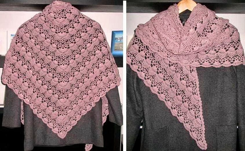 Crochet Shawls: Crochet Shawl Pattern - Pineapple Crochet Lace ...