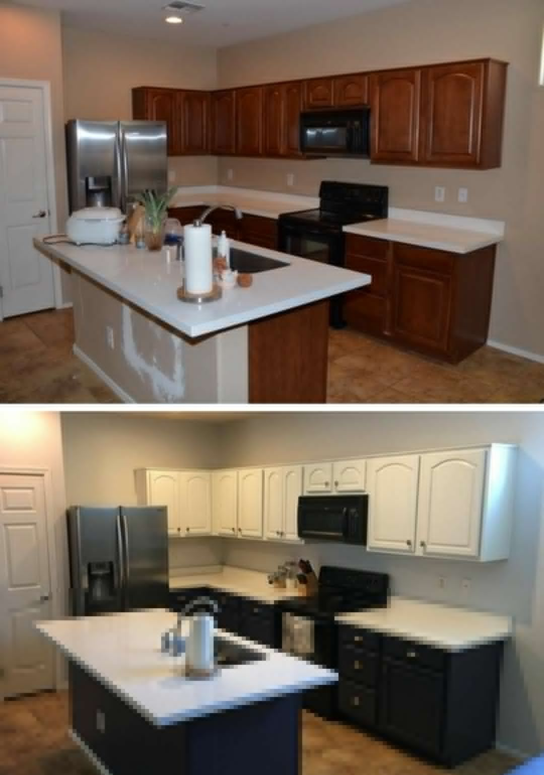 Kitchen Remodel Before And After Trendy Look And Updated Style In 2020 Kitchen Remodel Before And After Kitchen Renovation Cheap Kitchen Cabinets