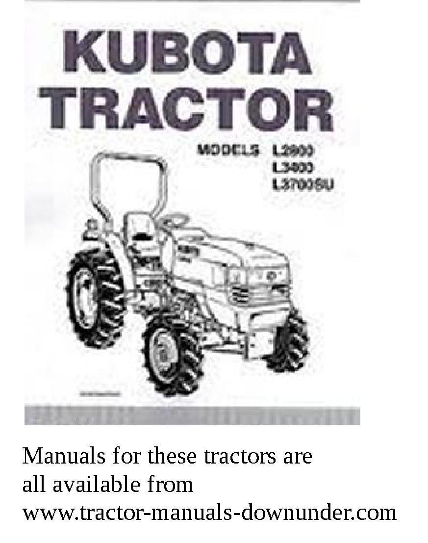 Pin by Tractor manuals downunder on Kubota tractors in