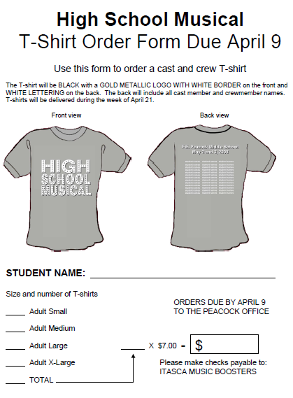 T Shirt Order Forms 50 Customized T Shirt Order Form Templates Demplates School Tshirts Shirt Order Order Form