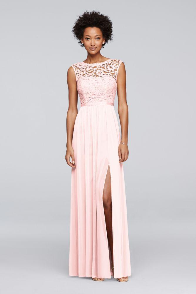 ab69c69acc8 Long Bridesmaid Dress with Ribbon Waist Style 4XLF19328