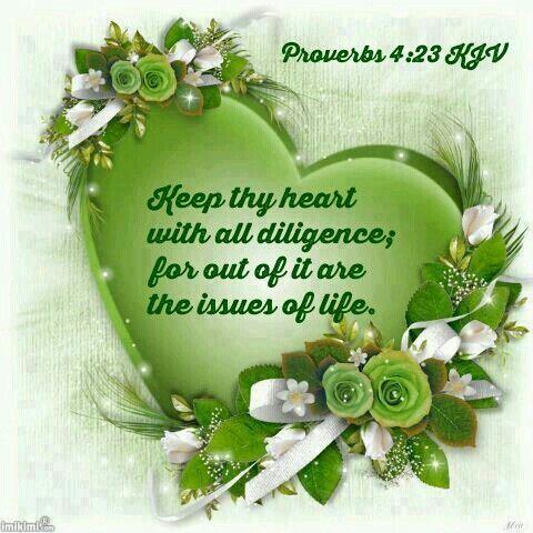 Proverbs 4:23 KJV | Kjv, Day wishes, Proverbs