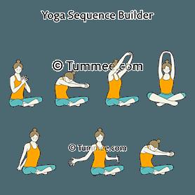 Circle Of Joy Yoga Yoga Sequences Benefits Variations And Sanskrit Pronunciation Tummee Com Yoga Sequences Seated Yoga Poses Restorative Yoga Poses