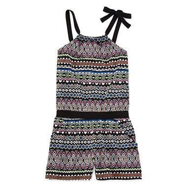 ff935c0deb9e jcpenney.com | Total Girl® Sleeveless Tribal Romper - Girls 7-16 ...