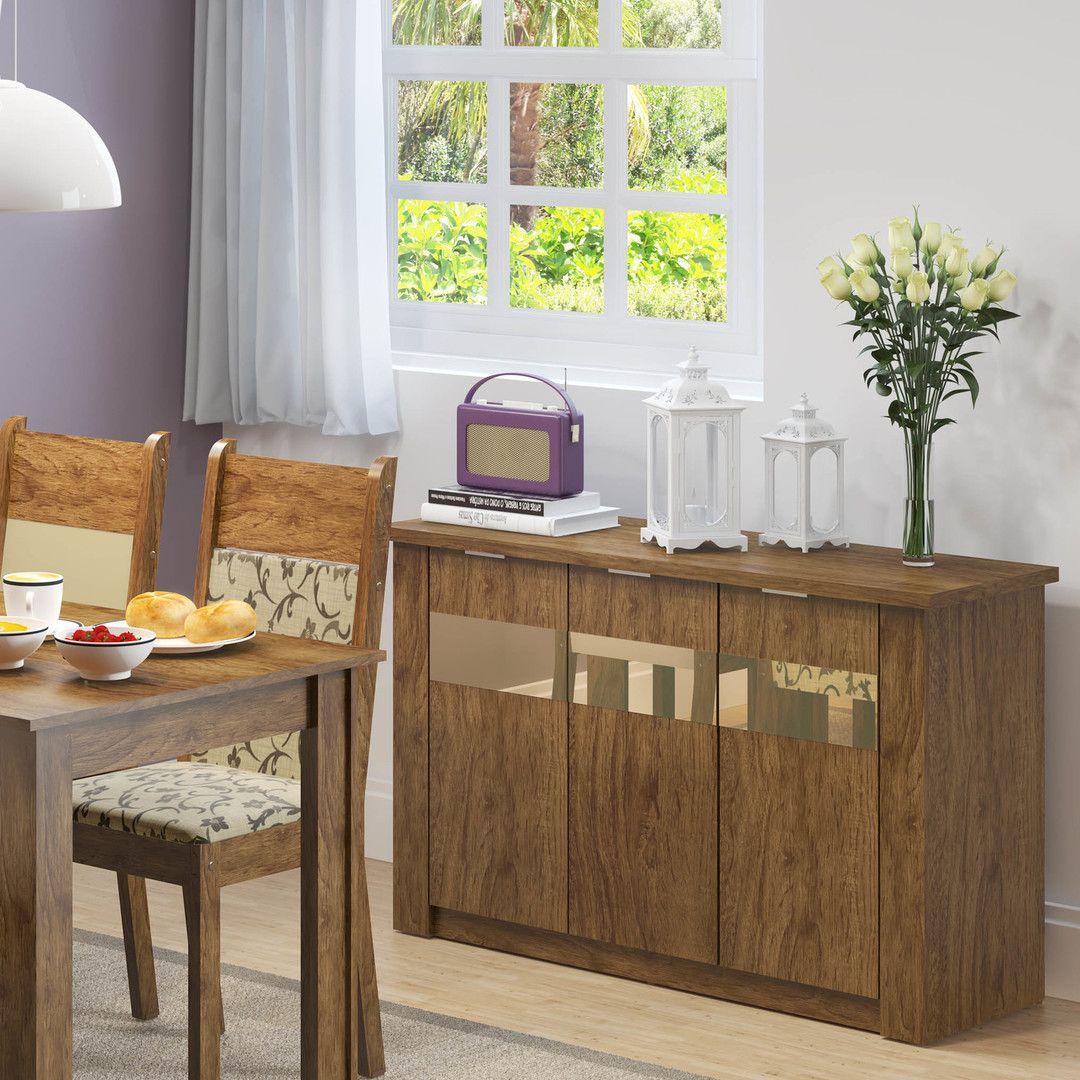 Deixe sua #sala de jantar ainda mais incrível com este #buffet espelhado! <3 #MadeiraMadeira