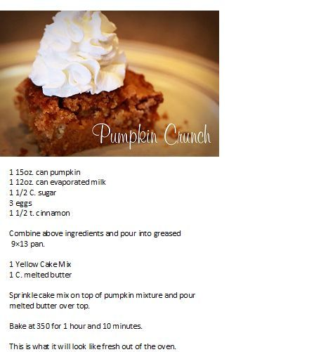 recipe: pumpkin crunch cake pampered chef [4]