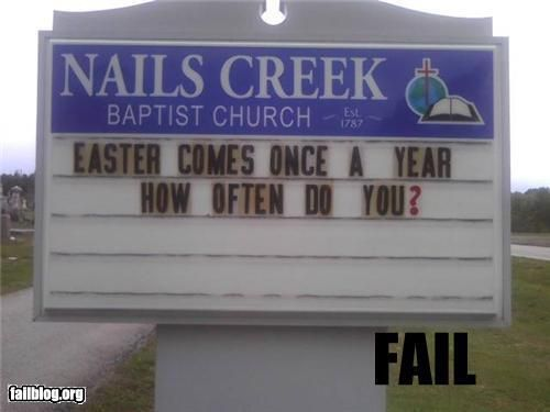 Quite an Easter message
