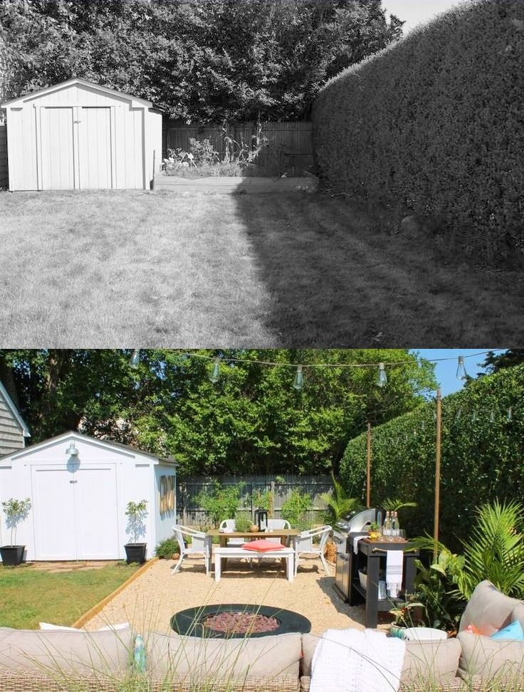 Before and After: Small Backyard Makeover | Small backyard ...