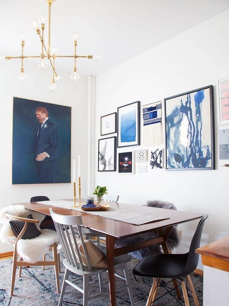 Décoration murale salle à manger en 30 propositions artistiques à copier