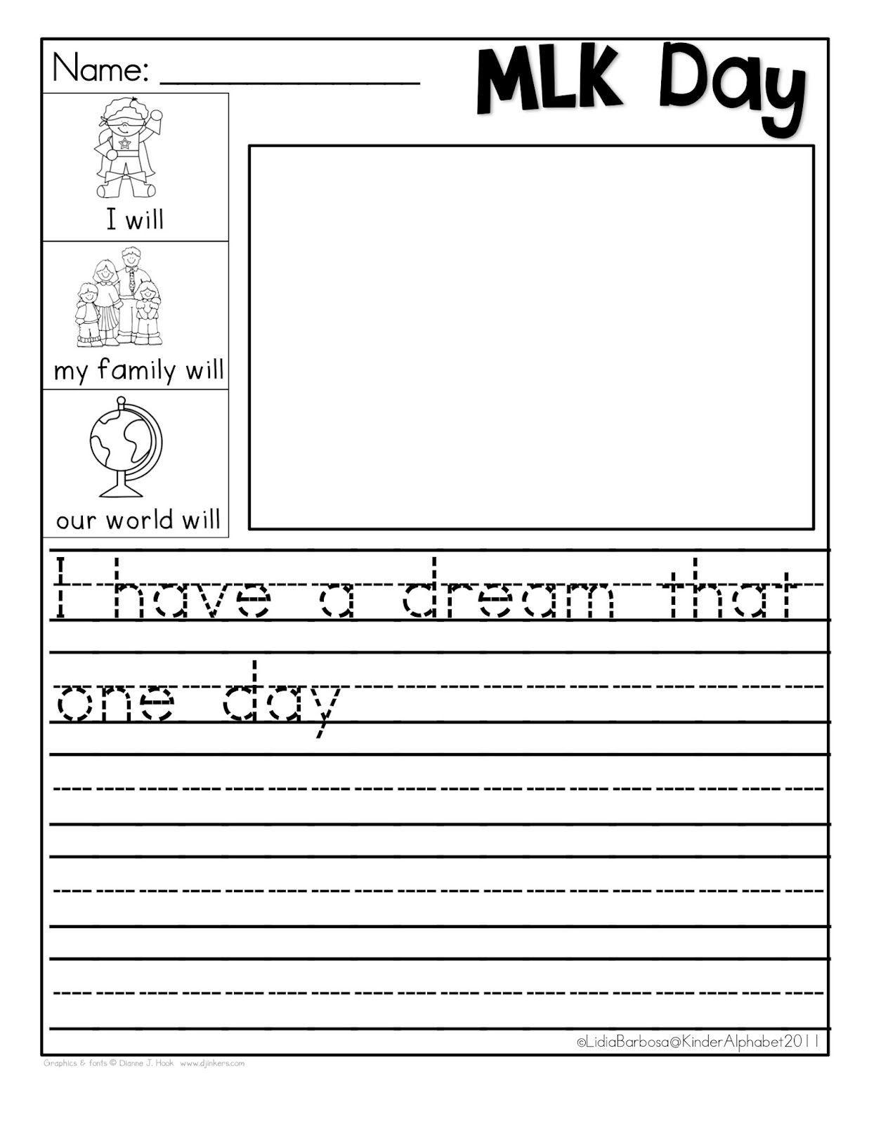 - Martin Luther King Jr Worksheets Kindergarten Printable