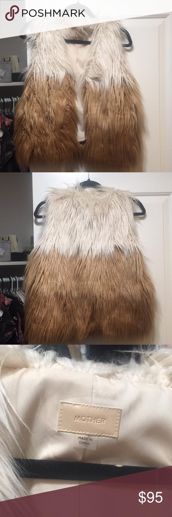 MOTHER Faux Fur Vest Faux fur vests, Fur vest, Faux fur
