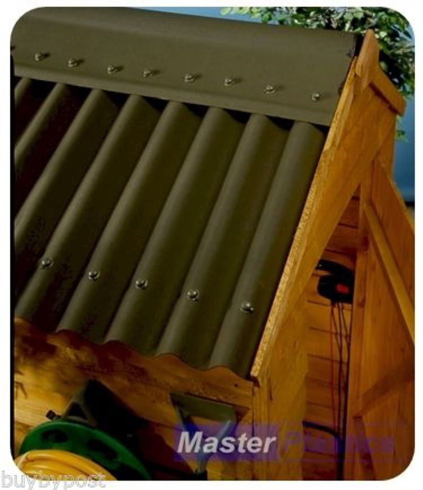 Coroline Roofing Corrugated Bitumen Roof Sheet 2m Green For Sheds Stables Etc Bitumen Roof Roofing Sheets Roofing