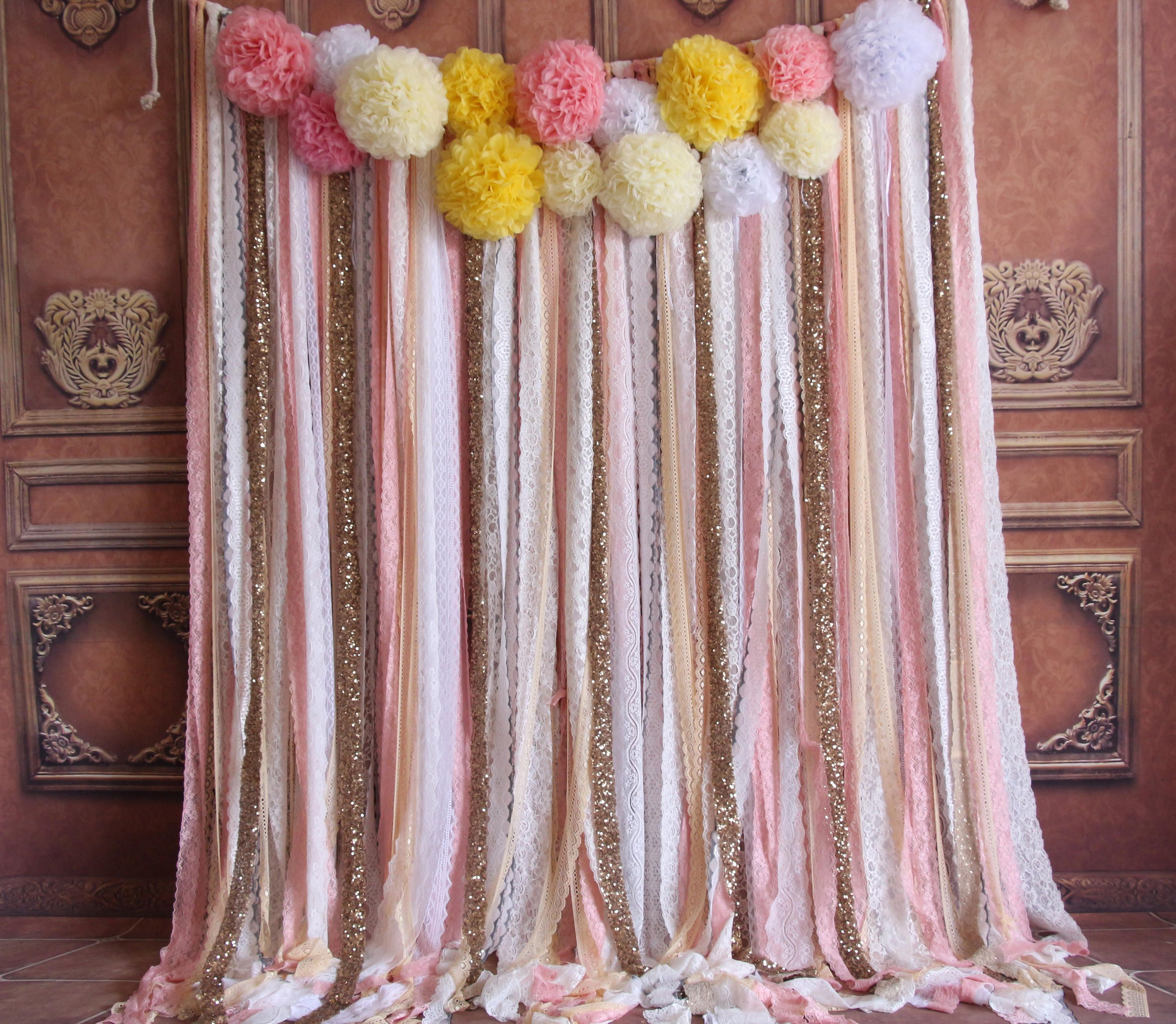 wedding reception photo booth singapore%0A pink lace sparkle sequin flowers backdrop photo booth baby shower backdrop  Wedding ceremony stage