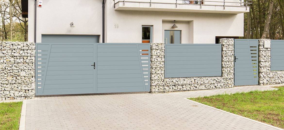 Privacy screen courtyard gate plastic – silver gray |  TYPE 3 |  Up to B40 …