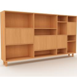 Photo of Buchungswand aus Buche – individuelles Designerregal: Buchentüren – hochwertige Materialien – 229 x 1