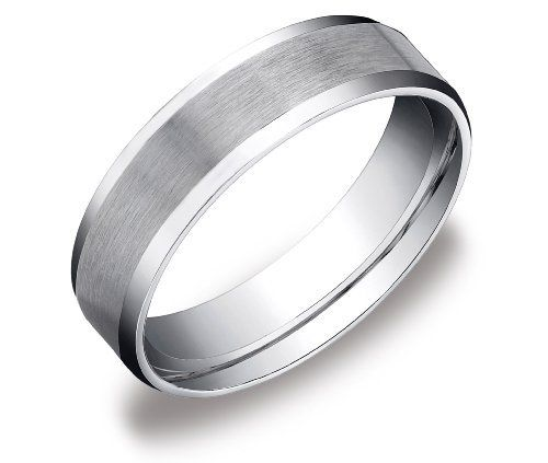 Men S 10k White Gold 6mm Comfort Fit Plain Wedding Band With Satin Center And Beveled Sides Amazon Cura Gold Wedding Band Mens Wedding Bands Plain Wedding Band