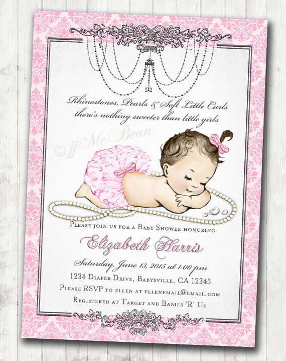 Private listing for ashley by jjmcbean on etsy baby shower girl baby shower invitation for baby girl pink silver vintage antique french baby shower diy printable filmwisefo