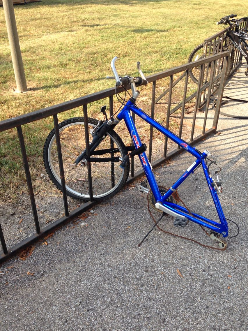 A Poor Bike Near The Commonwealth Stadium What Happened I Wonder