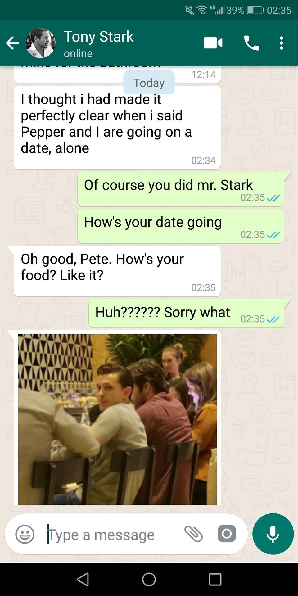 Avengers Text Messages
