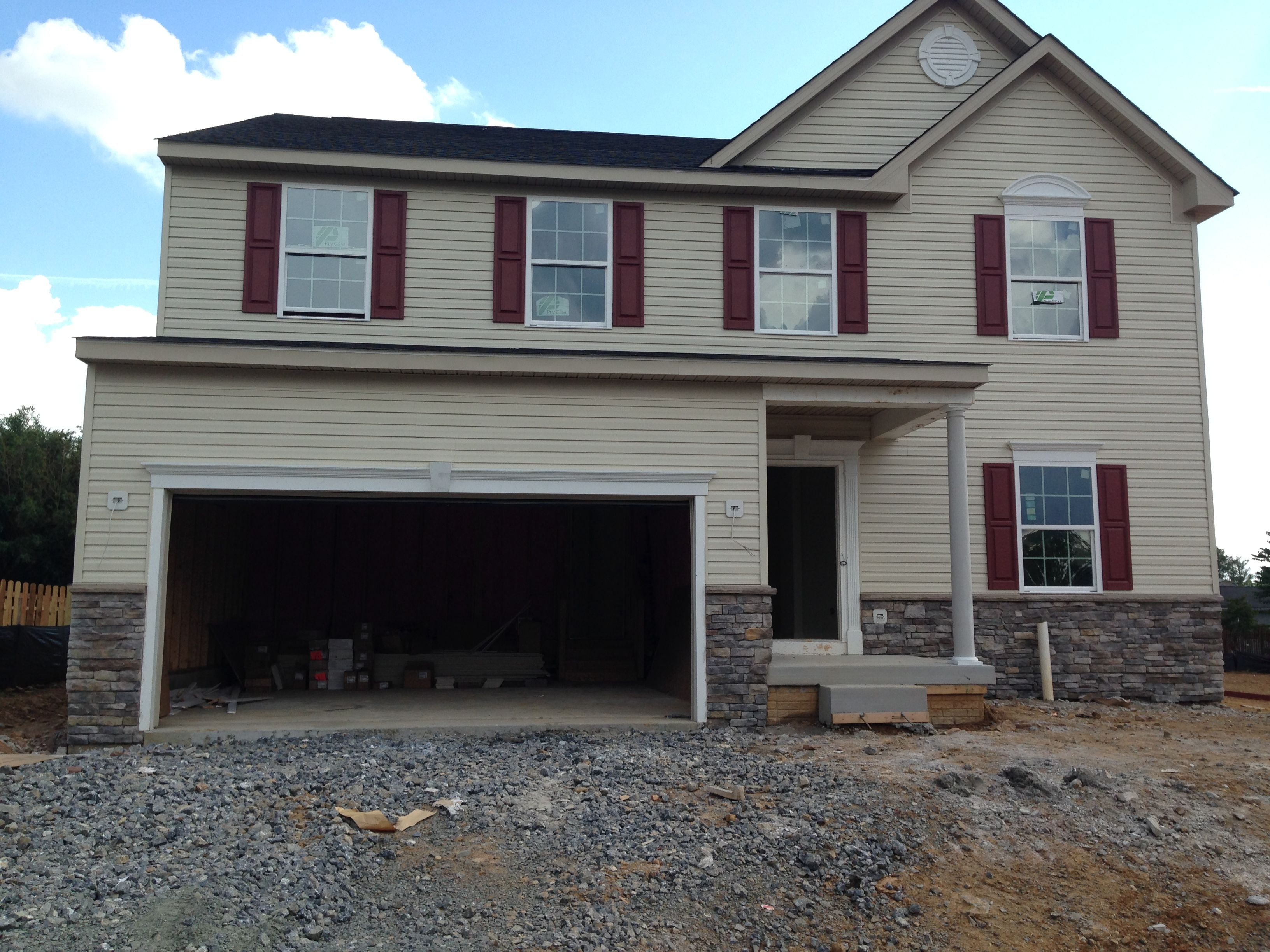 Ryan Home Rome Elevation B We Re Almost Done Ryan Homes Home New Homes