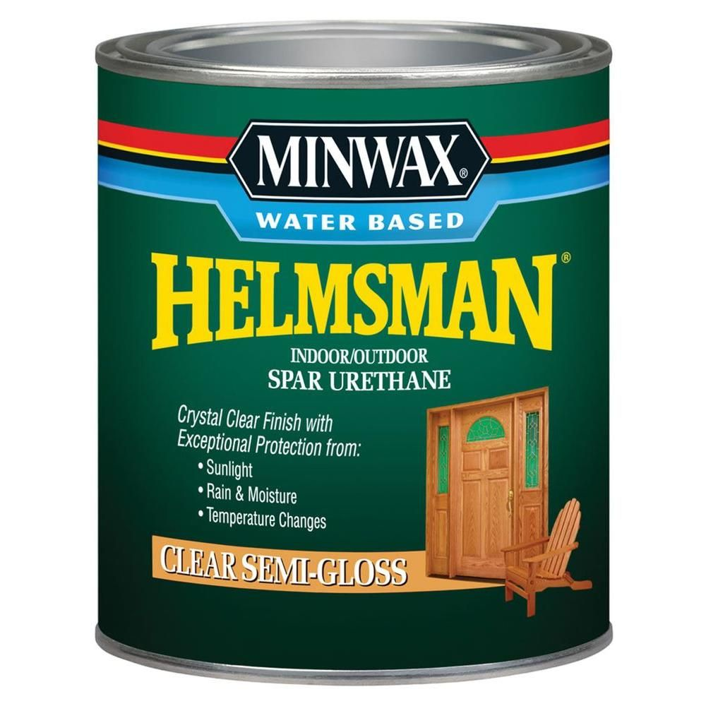 Minwax 1 Qt Clear Semi Gloss Helmsman Indoor Outdoor Spar Urethane 4 Pack Minwax Staining Wood Outdoor Kitchen Countertops