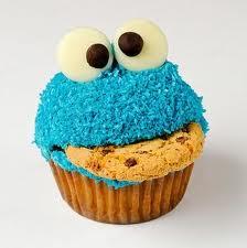 Coockie Monster cupcakes