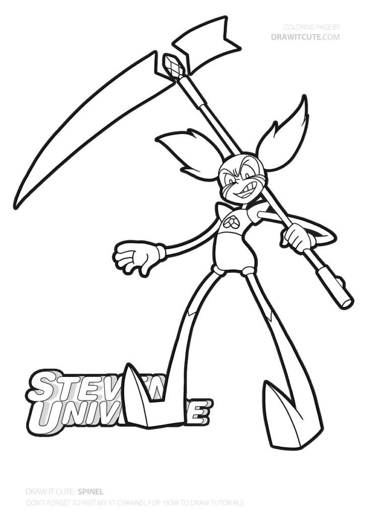 spinel  steven universe coloring page  color for fun