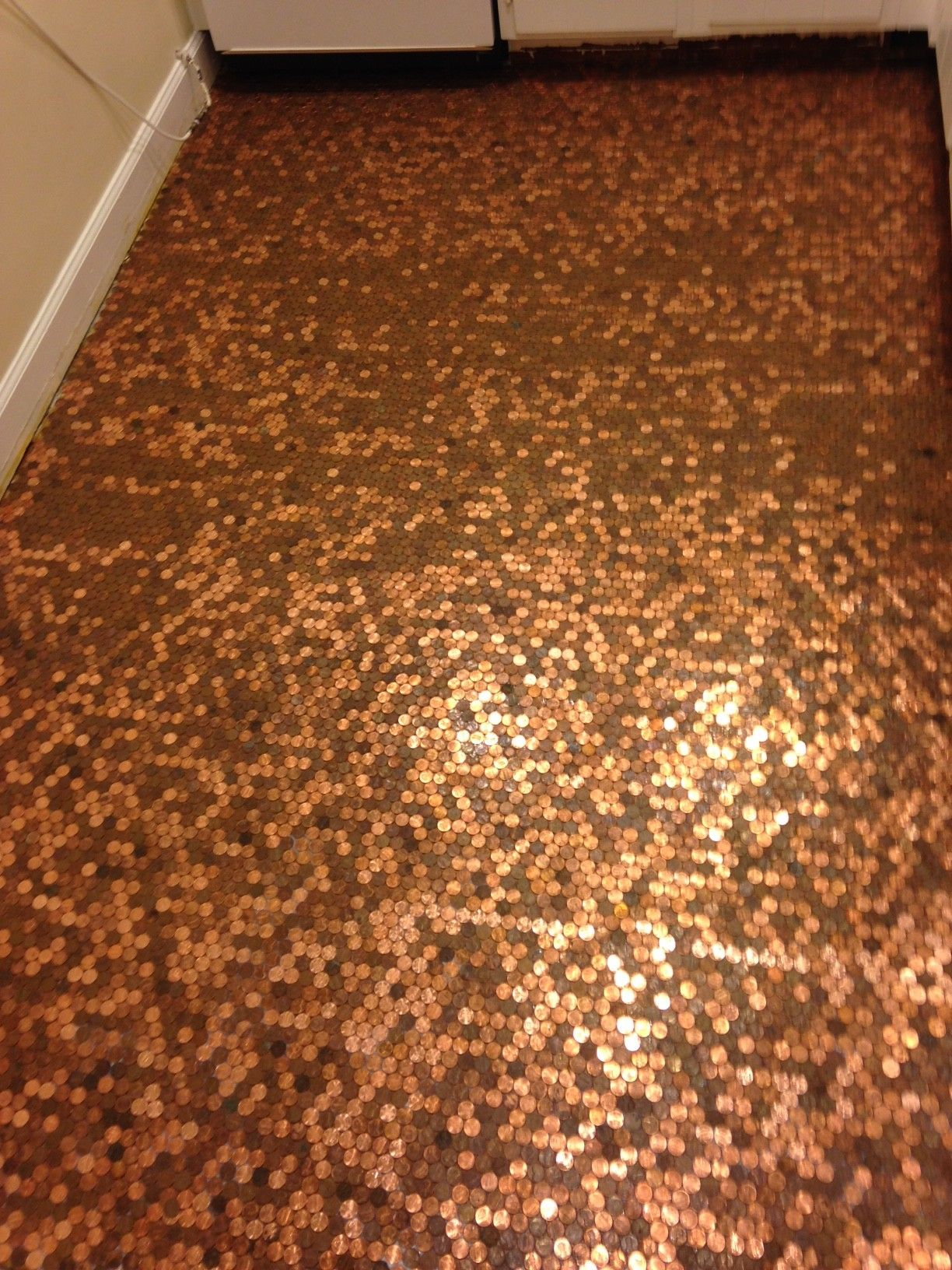 How To Install A Copper Penny Floor A Made In Usa Diy