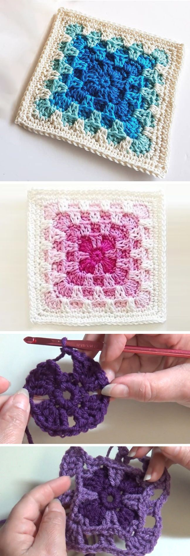 Solid Square & Blanket – Komplettes Muster #grannysquares