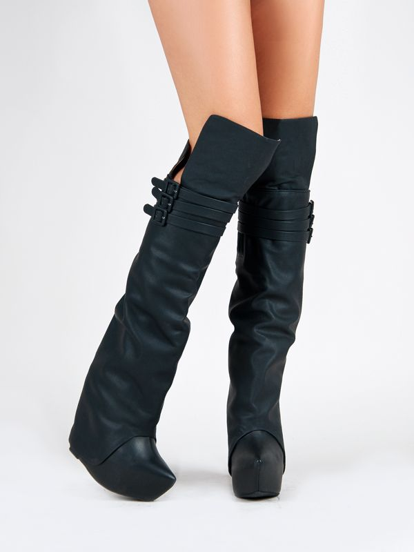 Details about JEFFREY CAMPBELL ZEALOT HI Black Over the Knee ...