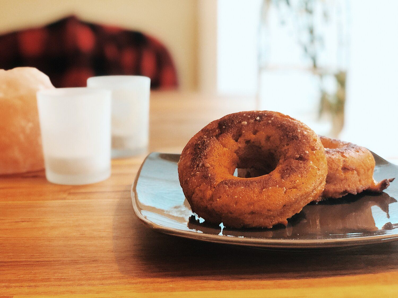 Pumpkin Spice Protein Donuts (with a CBD glaze!) #proteindonuts Pumpkin Spice Protein Donuts (with a CBD glaze!) — donuts + down dog #proteindonuts