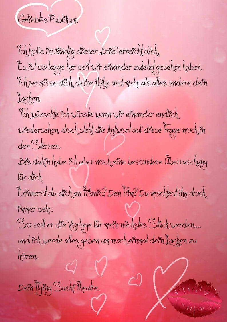 Meinen ehemann an liebesbrief Schöne Liebesbriefe