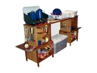 I built a chuck box pretty close to this one and it works GREAT!  Holds everything we need in one place.  ~ Julie