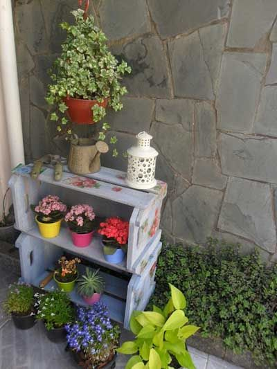 Estanterias con cajas de fruta para plantas buscar con - Estanteria para plantas ...
