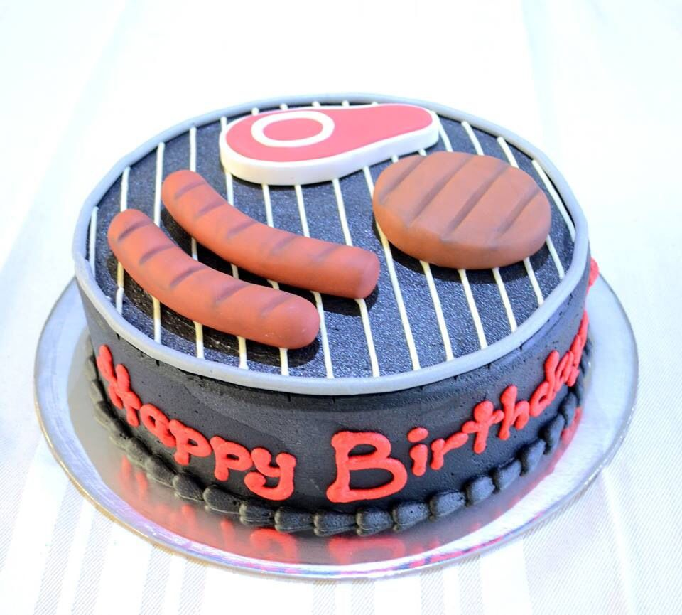 BBQ cake for him Dad or male birthday cake Cake Cup cake