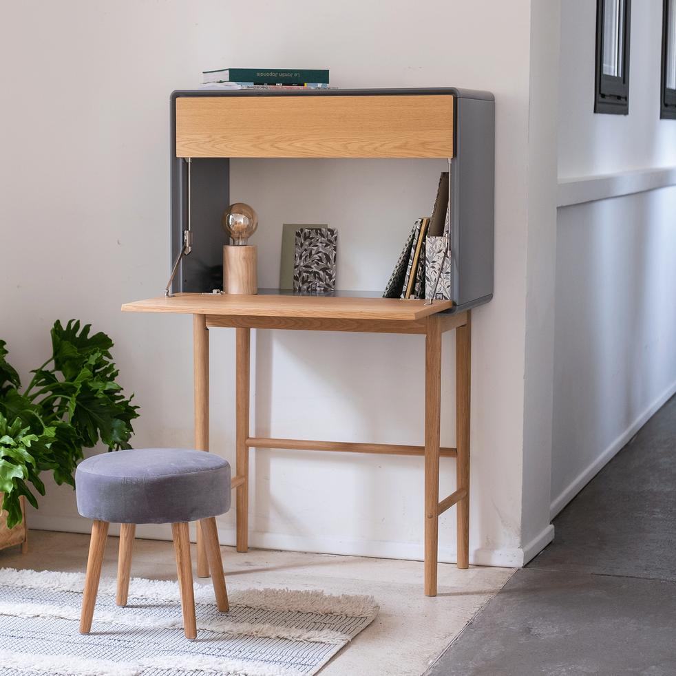 Secretaire En Bois Gris Restanque Verdet Bureaux Alinea En 2020 Bois Gris Decoration Maison Mobilier De Salon