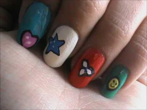 Magic nail art for KIDS- easy nail art for short nails- nail art ...