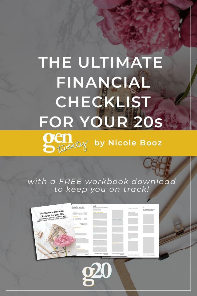 The Ultimate Financial Checklist For Your 20s Personal