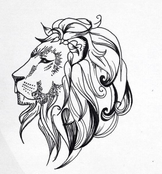 Line Drawing Tattoo Designs : Quick lion line drawing tattoo design by lrw tattoodesign