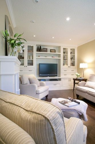 Tv Unit In Living Room: Built-in Wall Unit // Living Space // Tv Room