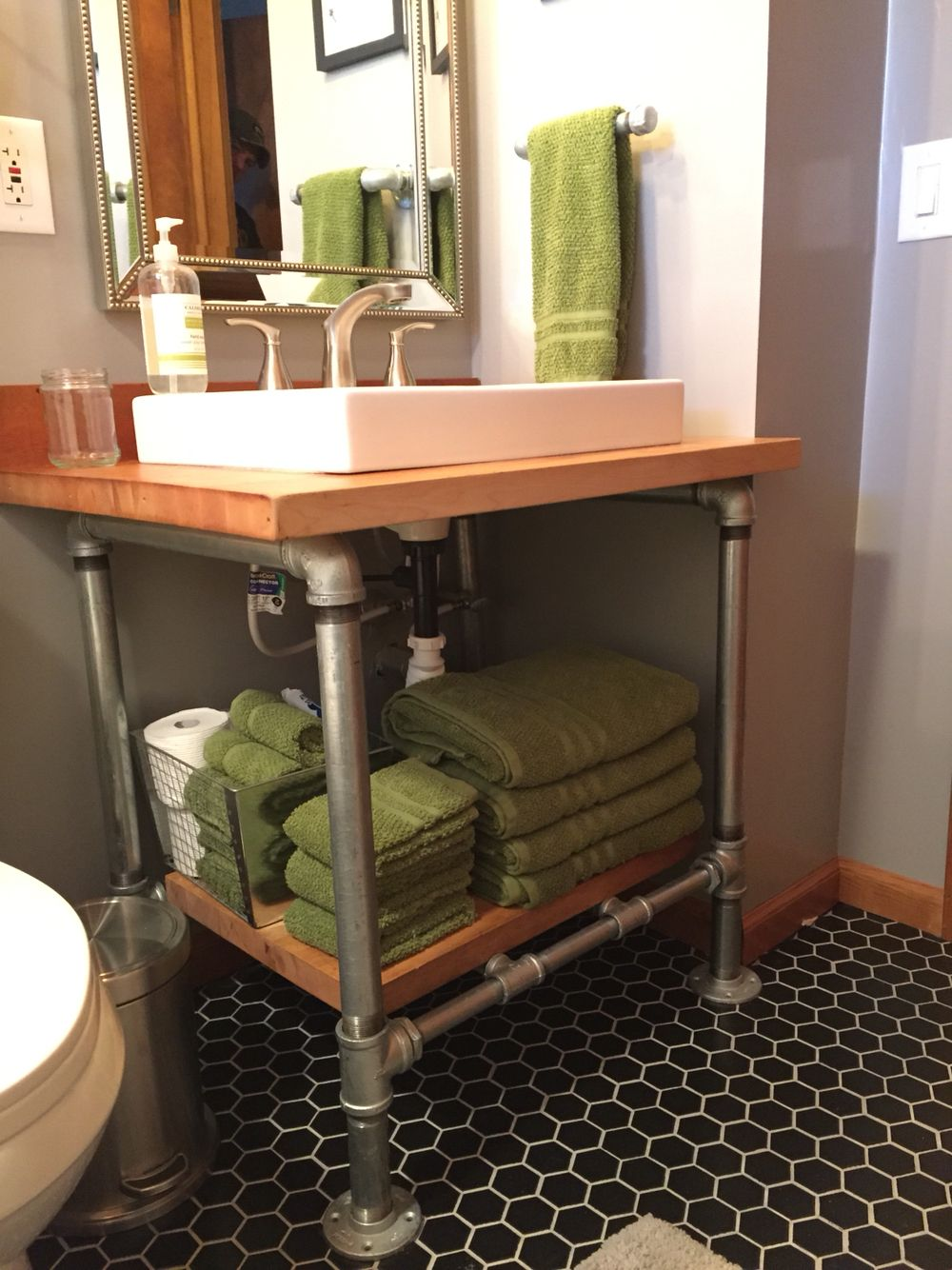 Combination Vanity Units For Small Bathrooms: Another View Of The Open Style Vanity. We Liked The