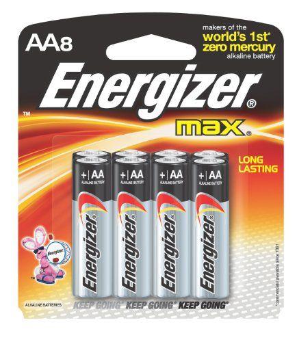 Energizer Max Alkaline Aa Batteries 8 Count Package Energizer Battery Energizer Batteries