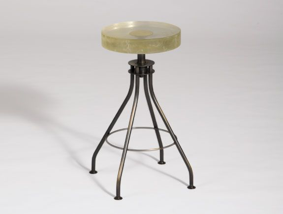 Holly Hunt Alison Berger Glass Stool Stunning